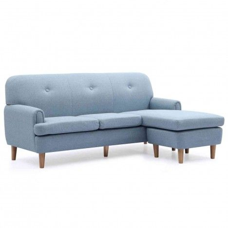 Canapé d'angle réversible en tissu style scandinave Leno -