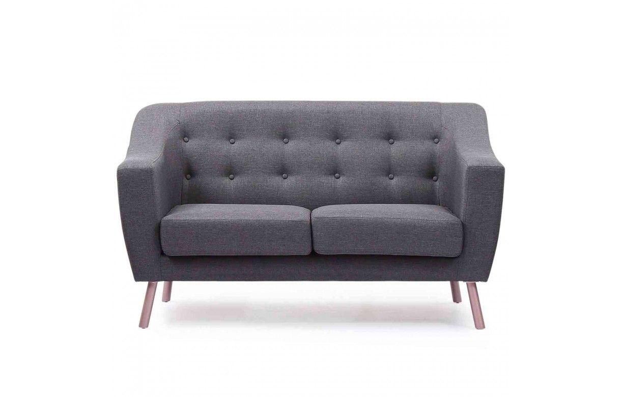 canap style nordique 2 places en tissu sanson. Black Bedroom Furniture Sets. Home Design Ideas
