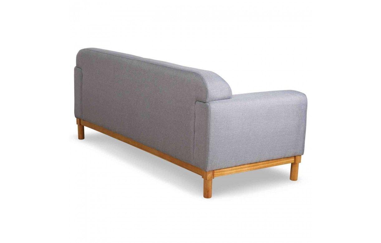 canap en bois et tissu 3 places amy decome store. Black Bedroom Furniture Sets. Home Design Ideas