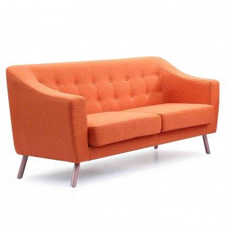 Canapé style scandinave 3 places en tissu Sisi -