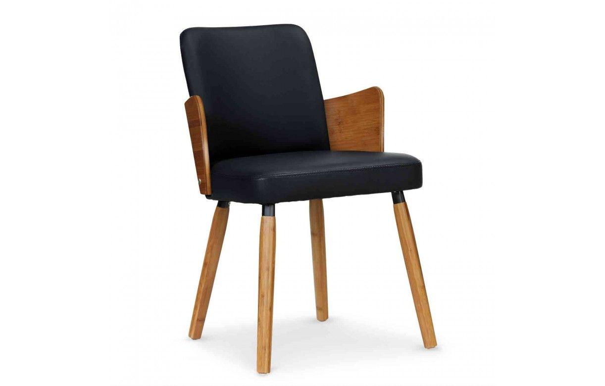 de chaises style scandinave et 2 simili Lot bois cuir 76fgby