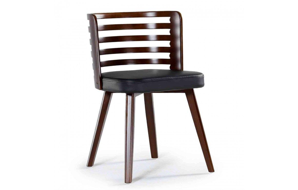chaise scandinave en bois et simili cuir karty lot de 2 decome store. Black Bedroom Furniture Sets. Home Design Ideas
