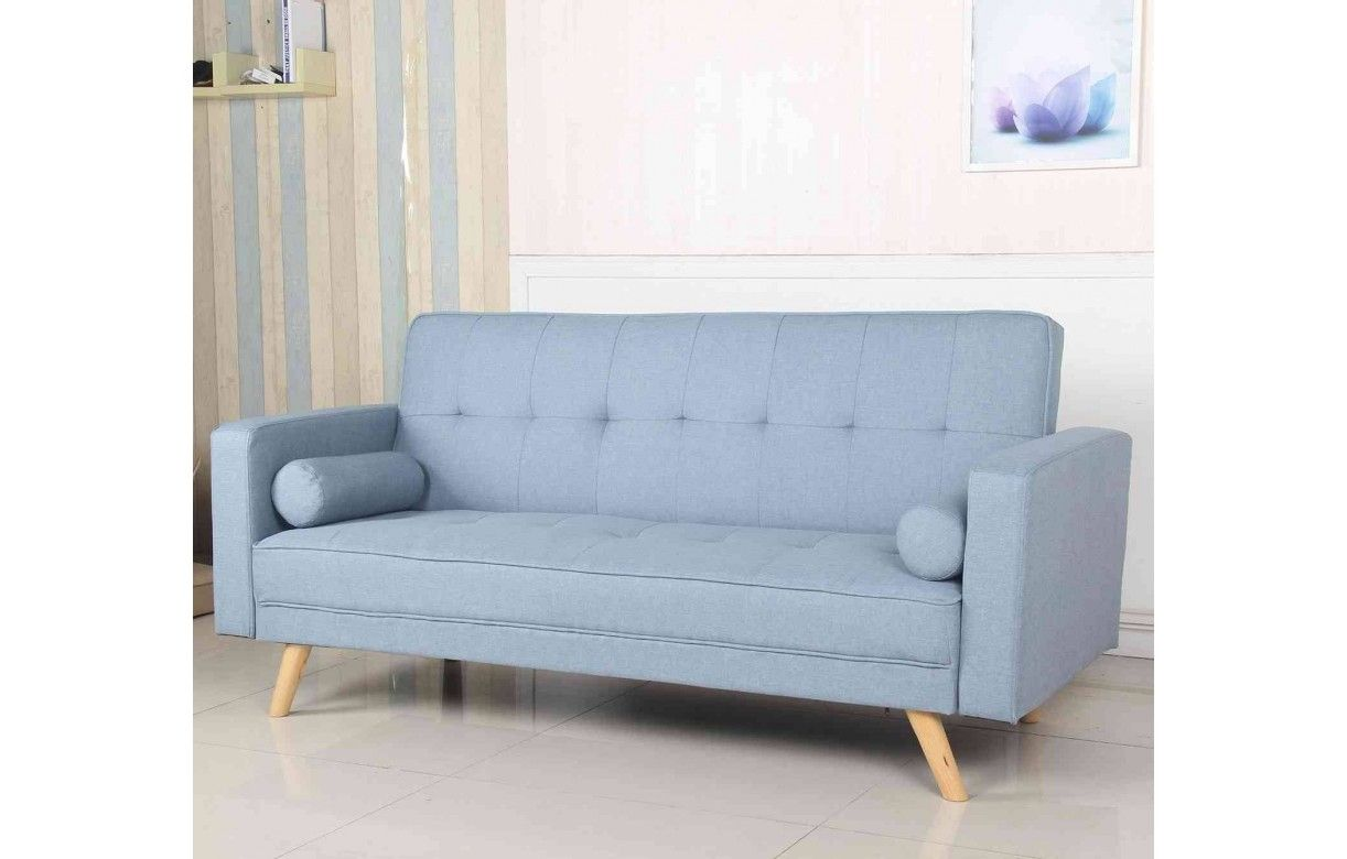 canap 3 places convertible nordique en tissu 5 coloris. Black Bedroom Furniture Sets. Home Design Ideas