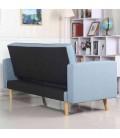 Canapé 3 places convertible nordique en tissu - 5 coloris -