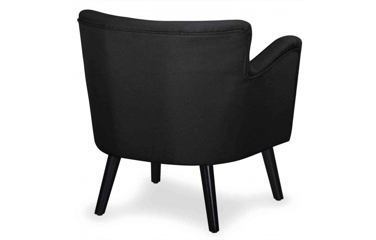 fauteuil en tissu noir beige ou rouge style scandinave berny. Black Bedroom Furniture Sets. Home Design Ideas