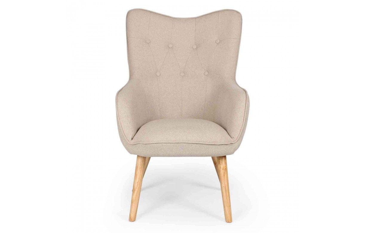 fauteuil de style danois en tissu et pieds chene clair 5 coloris. Black Bedroom Furniture Sets. Home Design Ideas