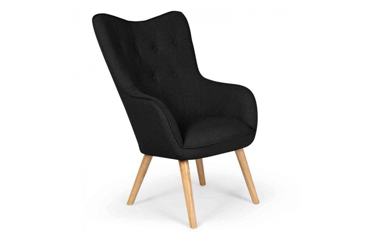 fauteuil de style danois en tissu et pieds chene clair 5. Black Bedroom Furniture Sets. Home Design Ideas