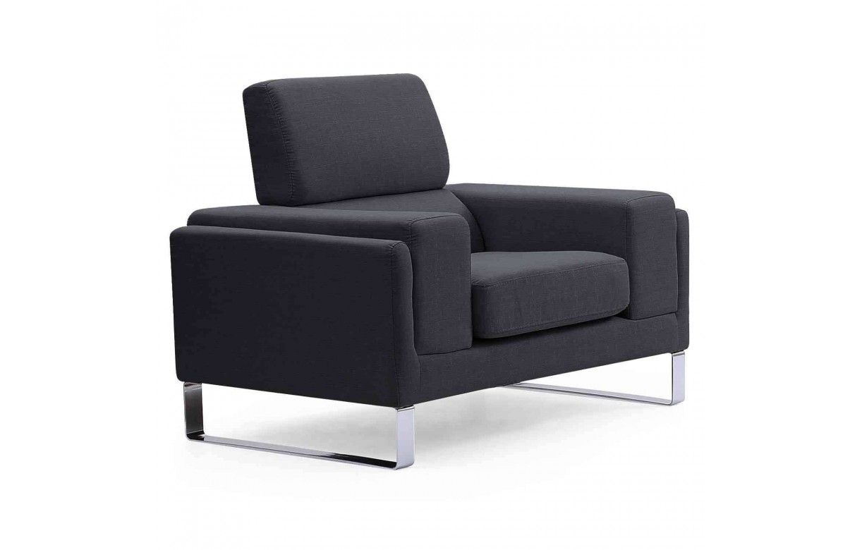 fauteuil moderne en tissu et pieds m tal bistan. Black Bedroom Furniture Sets. Home Design Ideas