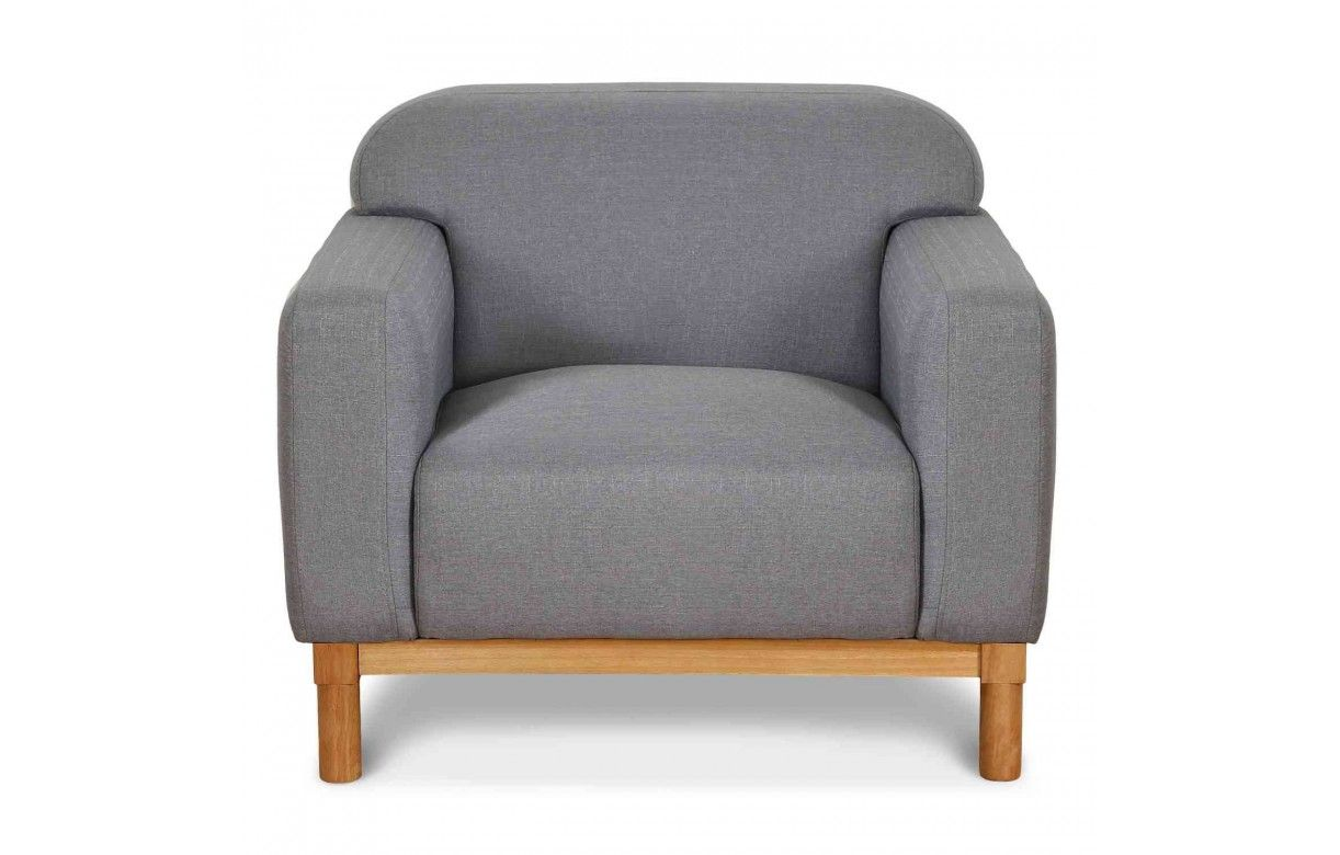 fauteuil en bois et tissu style danois amy. Black Bedroom Furniture Sets. Home Design Ideas