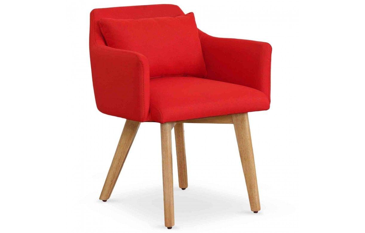 fauteuil chaise style scandinave en tissu et pieds en bois. Black Bedroom Furniture Sets. Home Design Ideas