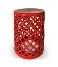 Pouf nid d'abeilles en céramique vert noir ou rouge -
