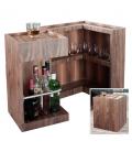 Mini bar range bouteilles en bois noyer Walnut -