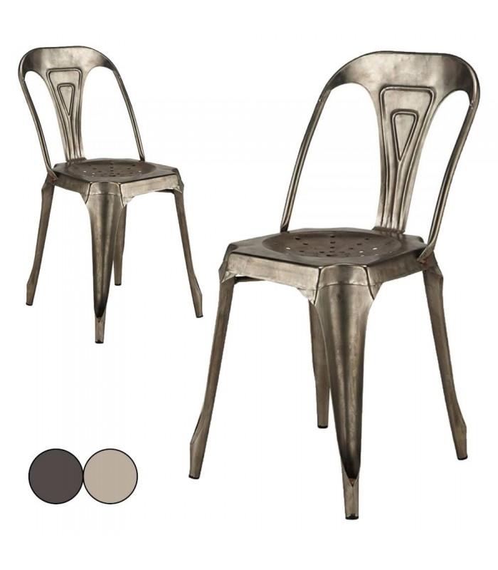 Chaise Empilables Design Industriel En Metal Vintage