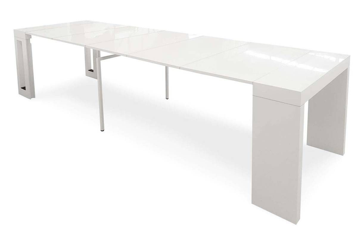 Console extensible bois clair 300cm rallonges int gr es for Table extensible avec rallonges integrees