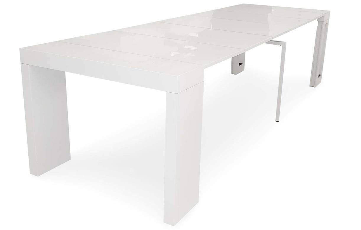 Table console extensible 5 rallonges console table for Table console extensible rallonges incorporees
