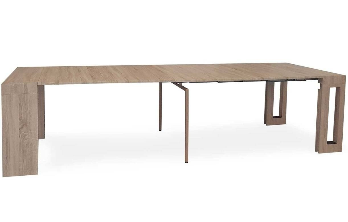 console extensible bois clair 300cm rallonges int gr es. Black Bedroom Furniture Sets. Home Design Ideas