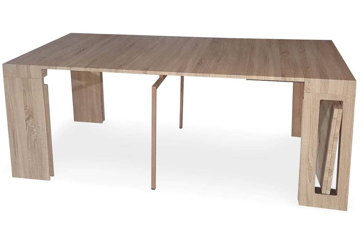 Console extensible bois clair 300cm rallonges int gr es for Table console extensible rallonges incorporees