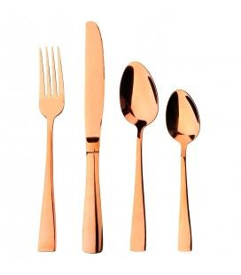 Set de 24 couverts en Inox Symphony Or rose brillant