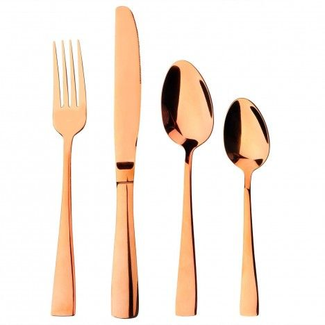 Set de 24 couverts en Inox Symphony Or rose brillant -