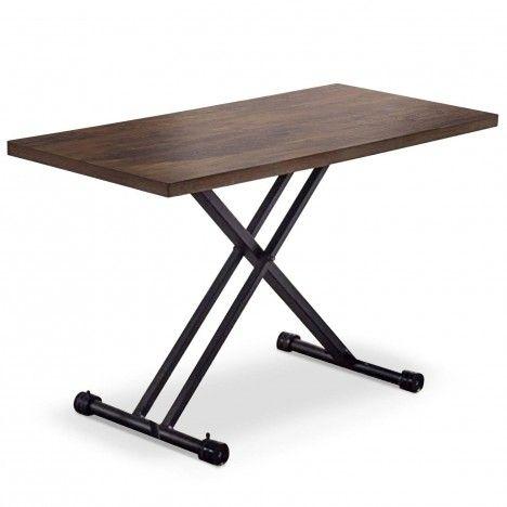 Table basse relevable gain de place en bois Folk -