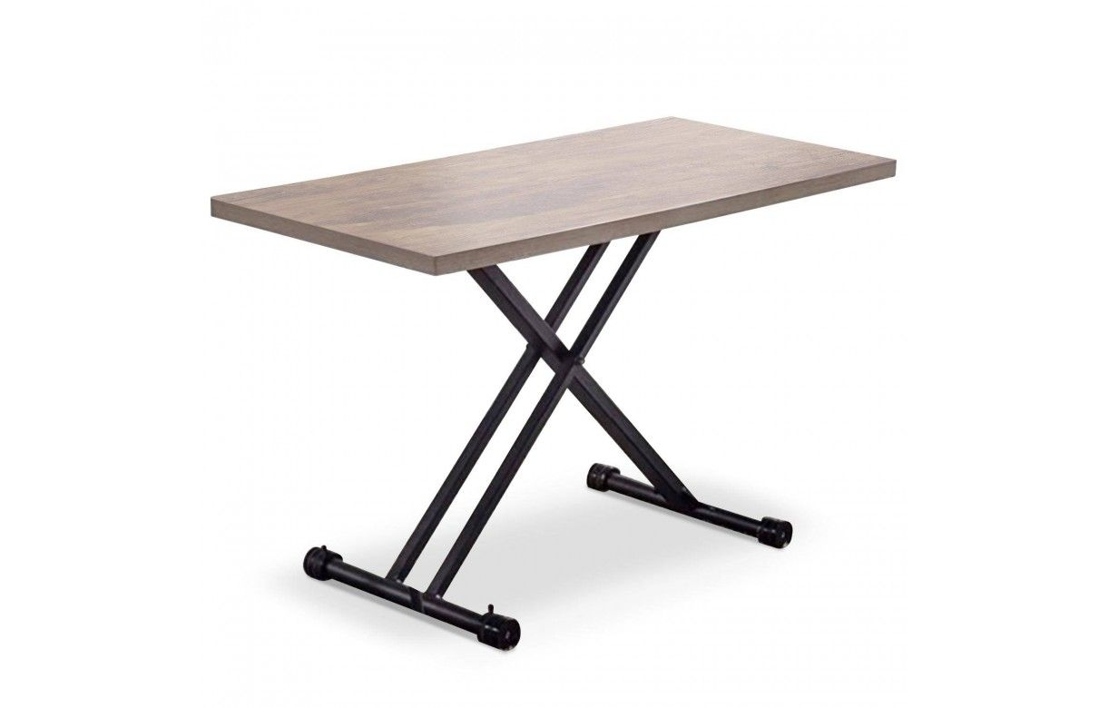 table basse relevable en bois ch ne clair. Black Bedroom Furniture Sets. Home Design Ideas