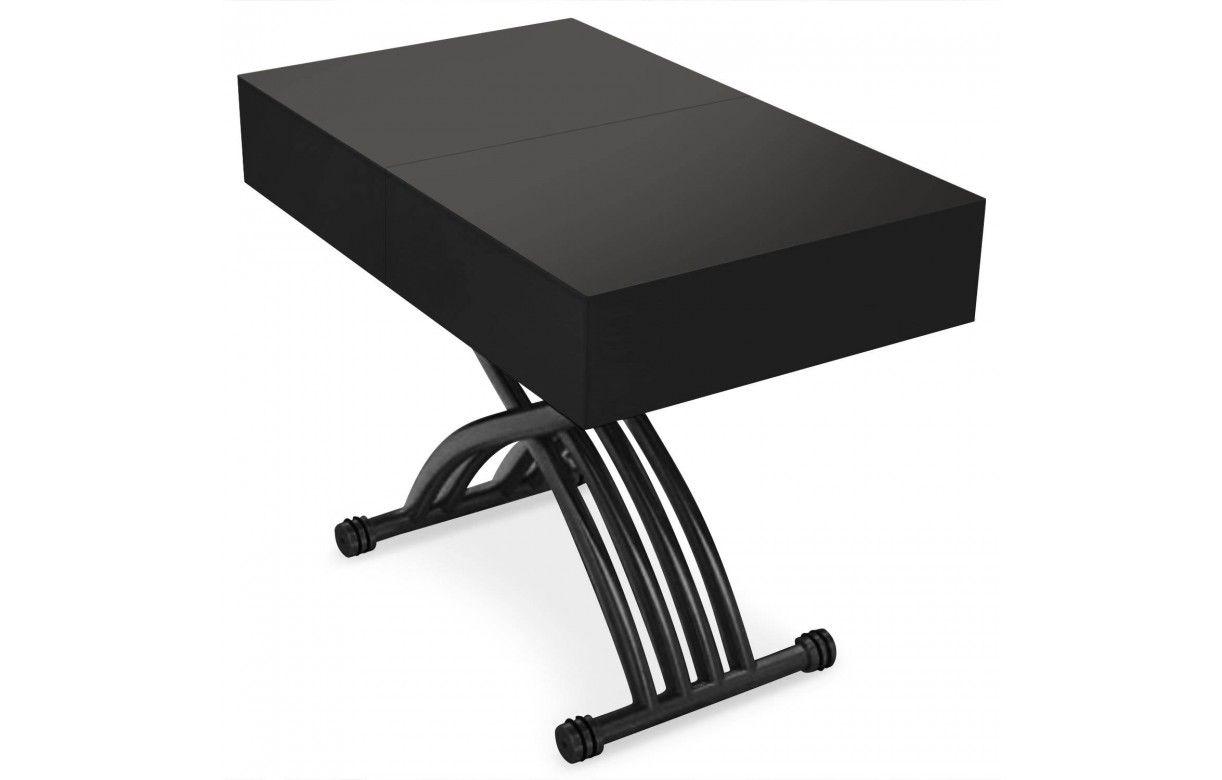 Table basse relevable et extensible blanche ou noire - Table basse blanche et noire ...