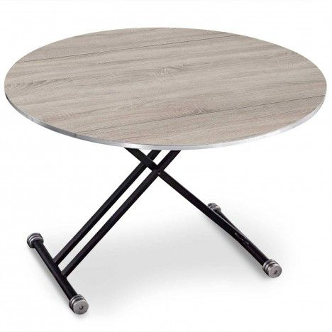 Table basse relevable et extensible ronde rey 3 coloris - Tables relevables extensibles ...