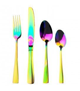 Set de 24 couverts en Inox Symphony Multicolore brillant