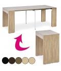 Table console extensible 3 rallonges Pablo - 5 coloris -