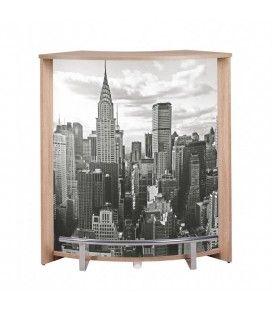 Comptoir de bar chêne clair noir ou blanc NYCity -