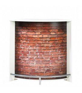 Meuble comptoir bar noir ou blanc imitation mur briques