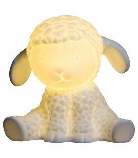 Lampe de chevet petit Mouton blanc H.19cm -