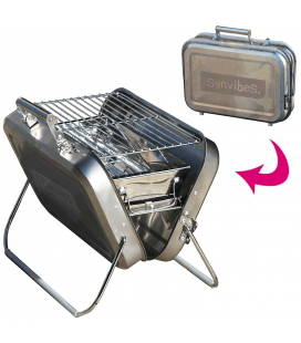 Barbecue pliable Valise en inox petit modèle Sunvibes