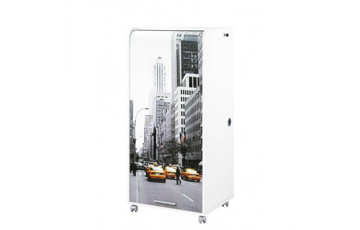 Bureau informatique mobile à rideau Taxi jaune New York