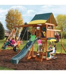 Cabane de jardin enfants avec jeux Brookridge Kidkraft