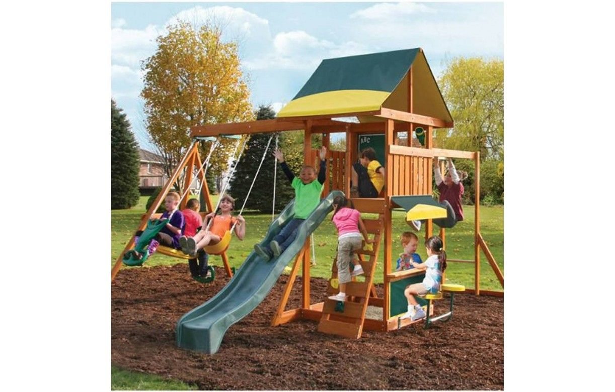cabane de jardin enfants avec jeux brookridge kidkraft 26410. Black Bedroom Furniture Sets. Home Design Ideas