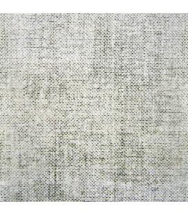 Rouleau adhésif décoratif mural - 45 x 200 cm - Effet lin - écru -