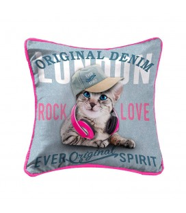 Coussin - 40 x 40 cm - Girly cat -