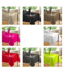 Nappe - Toile cirée rectangle - 140 x 240 cm - Glossy - Différents coloris -