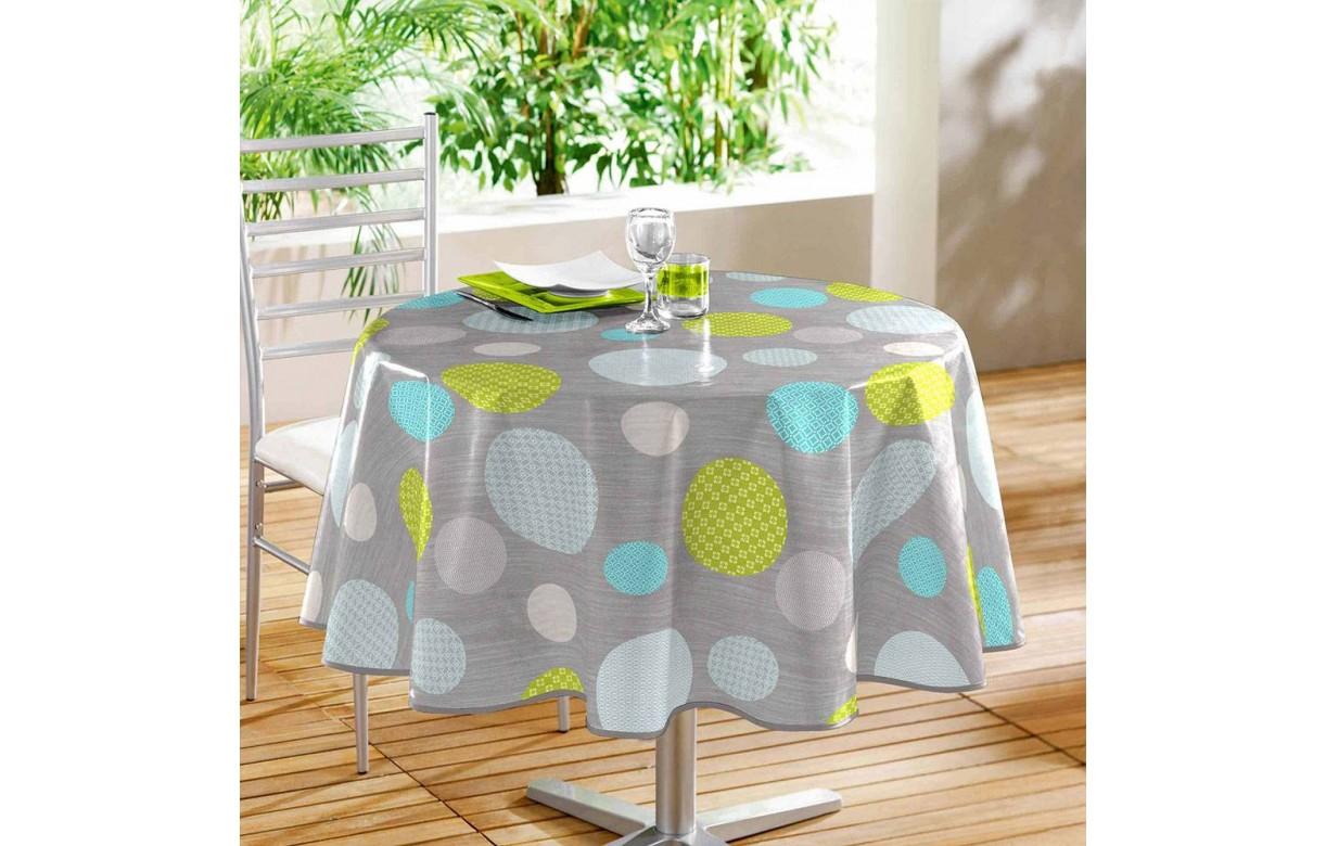 nappe toile cir e ronde diam tre 160 cm atolls decome store. Black Bedroom Furniture Sets. Home Design Ideas