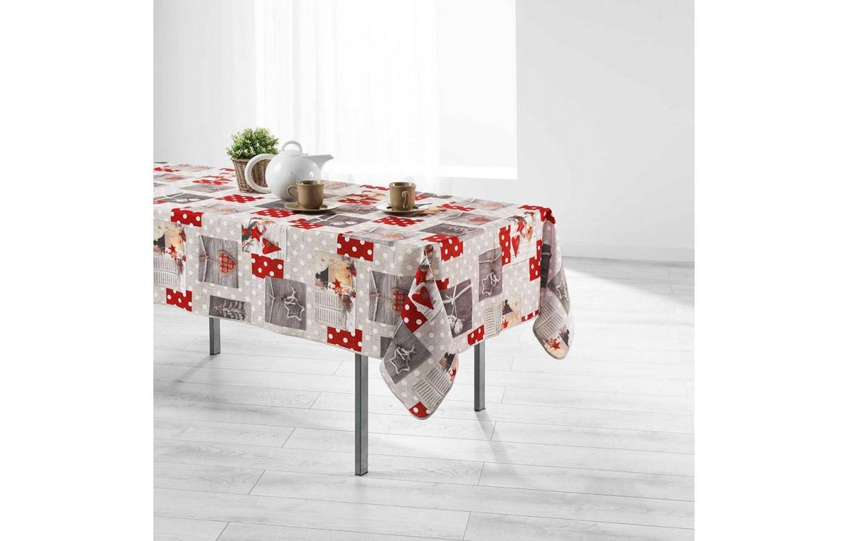 nappe anti tache rectangle 150 x 240 cm hiverna ambiance montagne decome store. Black Bedroom Furniture Sets. Home Design Ideas
