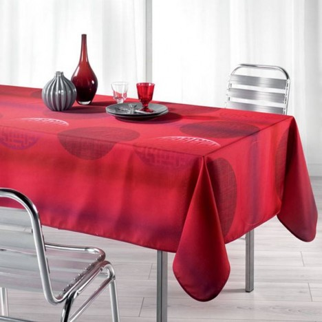 nappe anti tache rectangle 150 x 240 cm kosmo rouge decome store. Black Bedroom Furniture Sets. Home Design Ideas