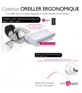 Oreiller ergonomique - confort du sommeil -