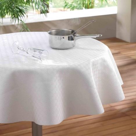 Nappe prot ge table ronde diam tre 135 cm blanc - Protege porte maison ...