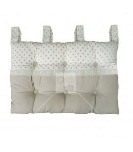 Tête de lit à pattes - 45 x 70 cm - Pois