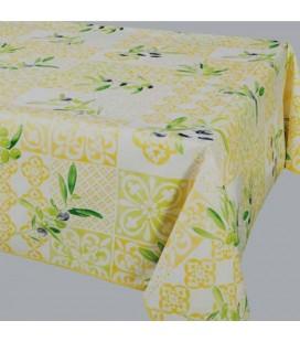 Nappe - Toile cirée - Carrée - 180 x 180 cm - Malaucene jaune