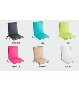 Coussin fauteuil salon de jardin - 90 x 42 x 5 cm - Garden - Spécial extérieur