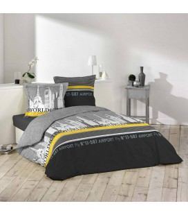 Housse de couette 240 x 260 cm taies eve plume for Housse clic clac new york