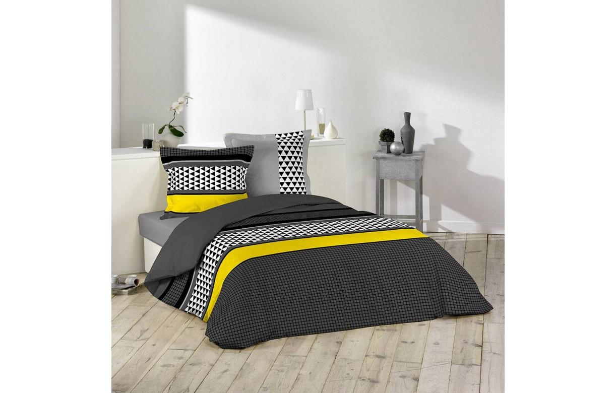 housse de couette 220 x 240 cm taies issey decome. Black Bedroom Furniture Sets. Home Design Ideas