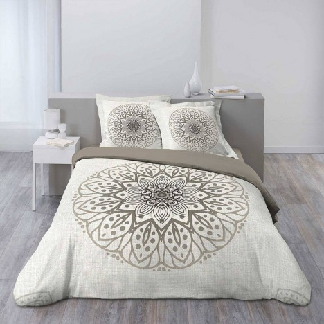 housse de couette 220 x 240 cm taies symetrix mandala decome store. Black Bedroom Furniture Sets. Home Design Ideas